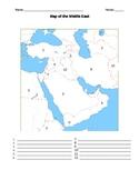 Middle East Map Worksheet
