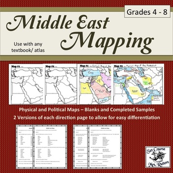 Middle East Mapping (includes instructions, maps, samples)