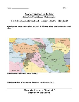 Middle East Modernization in Turkey and Egypt 2-3days
