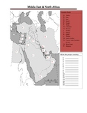 Middle East & North Africa Geography Activity (Fill in)