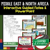 Middle East, North Africa Notes and PowerPoints, Google and Print