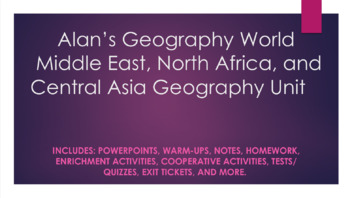 Middle East, North Africa, and Central Asia Geography Unit Bundle Materials