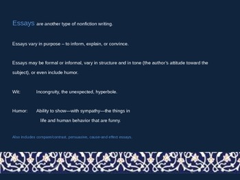 Middle East / North African Poetry & Literature PowerPoint Presentation #2