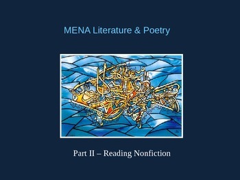 Middle East / North African Poetry & Literature PowerPoint