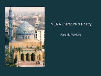Middle East / North African Poetry & Literature PowerPoint Presentation #3