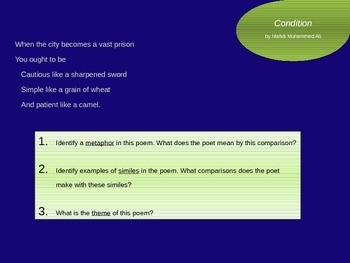 Middle East / North African Poetry & Literature PowerPoint Presentation #4