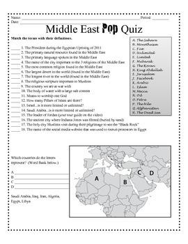 Middle East Pop Quiz
