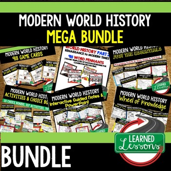 Middle East Post WWII BUNDLE (World History Bundle), Distance Learning /Print