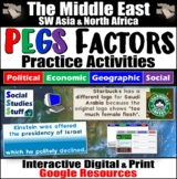 Middle East Region PEGS Factors Interactive, Digital Lesson for Google Classroom