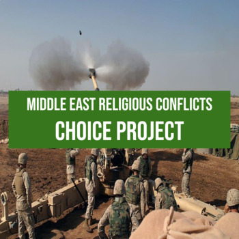 Middle East Religious Conflicts Choice Research Assessment with Rubric