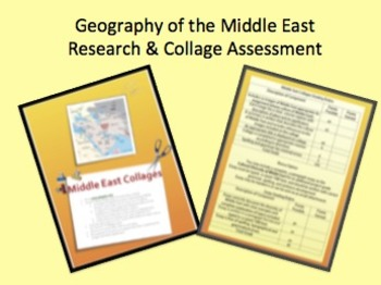 Middle East Research & Collage Assessment or Activity!