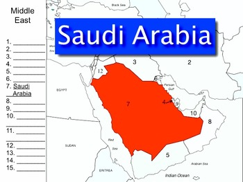 """Middle East Song mp4 Map Version by Kathy Troxel from """"Geography Songs"""""""