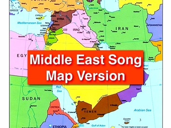 """Middle East Song mp4 Map Version by Kathy Troxel from """"Geo"""