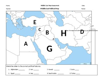 Middle East (Southwest Asia) Map Assessment