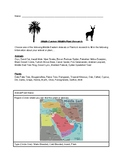 Middle Eastern Wildlife/Plant Research Activity