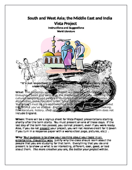 Middle East and India Vista Project