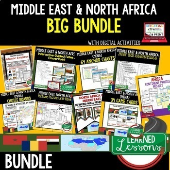 The middle east teaching resources teachers pay teachers middle east and north africa mena bundle world geography bundle sciox Image collections