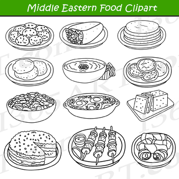 Middle Eastern Arabic Food Clipart