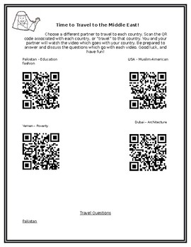 Middle Eastern Cultures QR activity