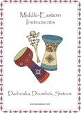 Middle Eastern Instruments - Colorful Mini-Poster