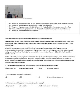 Middle Eastern and Asian Test Questions for midterm