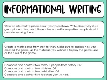 Middle Grade Common Core Writing Prompts Freebie {10 Free Prompts}