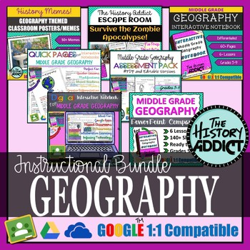 Middle Grade Geography Instructional Bundle