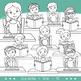 Middle School / Teen Kids Clip Art - Reading & Writing