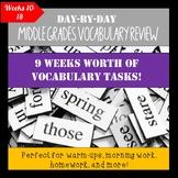 Middle Grades Bellringers Week by Week Vocab Weeks 10-18