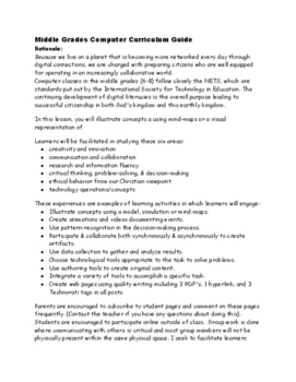 Middle Grades Computer Curriculum Guide