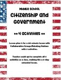 Middle Grades Government and Citizenship Cooperative Group Activities