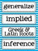 Middle Grades Language Arts Word Wall {Common Core Tier III Words}