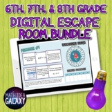 Middle Grades Math Digital Escape Room Bundle