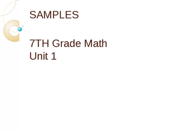 Middle Grades Math PPT Presentations - Intro to Data Analysis