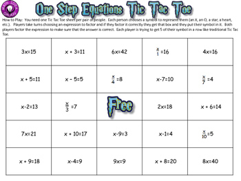 Middle Grades Math Sampler Freebie