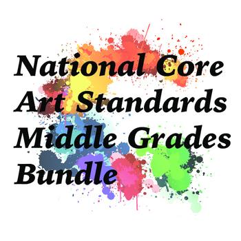Middle Grades National Core Art Standards Assessment Bundle