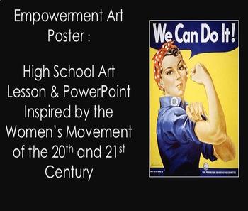 Women's History: Middle & High School Art Lesson-Empowerment Art Poster