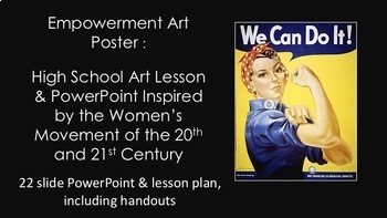 Women's History: Middle & High School Art Lesson-Empowerment Art Poster