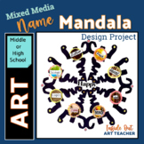 Middle or High School Art Project About Me Mixed Media Mandala