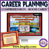 Middle High School BOOM CARDS Career Planning Occupations Part 2 - Teletherapy