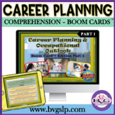 Middle High School BOOM CARDS Career Planning and Occupations - Teletherapy
