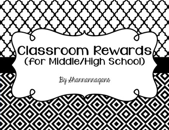 Middle/High School Classroom Rewards (That are totally FREE)