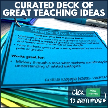 Middle/High School Classroom Teaching Strategies: 48 Card Flip Deck