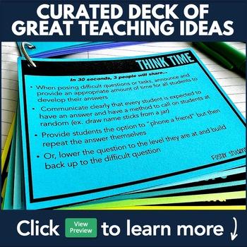 Middle/High School Differentiation & Teaching Strategies: 48 Card Flip Deck