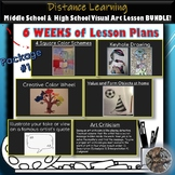 Middle & High School Distance Learning Visual Art Lesson BUNDLE! Package #1