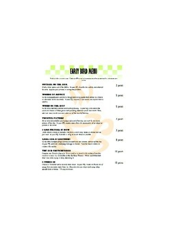 Middle/ High School English Early Finisher Menu