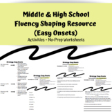 Middle & High School Speech Therapy Fluency Resource (Easy Onsets)