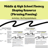 Middle & High School Speech Therapy Fluency Resource (Phrasing/Pausing)