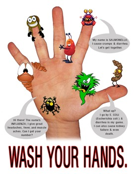 Middle/ High School Hand Washing Reminder Flyer