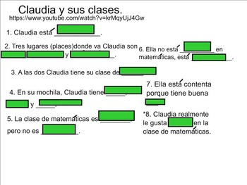Middle/High School Interactive Spanish Possessives, School Vocab Presentation